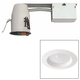 White 3 inch Airtight 8 Watt Complete LED Remodel Recessed Kit