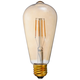40W Equivalent Amber 4W LED Dimmable Standard Edison Style