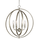 Possini Euro Brockport 20 1/2 inch Wide Orb Foyer Pendant