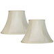 Creme Set of 2 Bell Lamp Shades 6x12x9 (Spider)