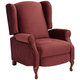 Piccolo Marsala Red Pushback Recliner Chair