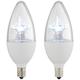 60W Equivalent Tesler Clear 6W LED Candelabra Torpedo 2-Pack