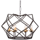 Varaluz Geo 24 inch Wide Antique Gold 6-Light Pendant Light