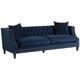 Marilyn 93 inch Wide Blue Velvet Tufted Upholstered Sofa