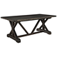 Anvil 78 1/2 inch Wide Black Rectangular Wood Dining Table