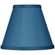 Blue Faux Silk Set of Four Shades 3x6x4 3/4 (Clip-On)