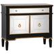 Uttermost Marciel Black and Gold 2-Door Wine Cabinet
