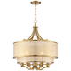 Possini Euro Nor 23 inch Wide Warm Antique Brass 6-Light Pendant