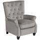 Bryce Mink Velvet Tufted Push Back Recliner Chair
