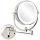 Aptations Neomodern Polished Nickel LED Wall Makeup Mirror