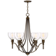 Clara 27 1/2 inch Wide Oil Rubbed Bronze 6-Light Chandelier