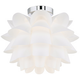 Possini Euro Design White Flower 15 3/4 inch W LED Ceiling Light