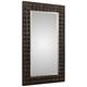 Aperia Burnt Walnut Stain 44 inch x 75 inch Oversized Wall Mirror