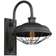 Lennex 17 1/4 inch High Slated Gray Metal Indoor-Outdoor Wall Light
