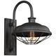 Lennex 17 1/4 inch High Slated Gray Metal Indoor-Outdoor Wall Light