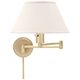 House of Troy Satin Brass Plug-In Swing Arm Wall Lamp