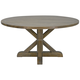 Trestle Provincial 60 inch Wide Salvage Gray Wood Round Dining Table