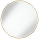 Lissa Gold Waved Edge 31 1/2 inch x 31 1/2 inch Wall Mirror