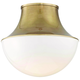 Hudson Valley Lettie 14 3/4 inch Wide Aged Brass LED Ceiling Light