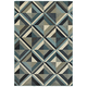 Linden 7902A 7'10 inchx10'10 inch Blue and Gray Area Rug