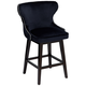 Ariana Navy Blue Velvet 25 1/2 inch Swivel Counter Stool