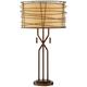 Marlowe Bronze Woven Metal Table Lamp