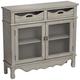 Mansfield 39 3/4 inch Wide Antique Taupe 2-Door Storage Cabinet