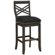 Mason 26 inch Graphite Bonded Leather Swivel Counter Stool