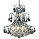 Toureg 19 inch Wide Chrome and Crystal 10-Light Chandelier