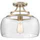 Charleston Brass 13 1/2 inch Wide Clear Glass LED Ceiling Light