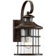 Hogan 14 inch High Bronze Motion Sensor Outdoor Wall Light