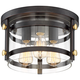 Eagleton 13 1/2 inch Wide Oil-Rubbed Bronze LED Ceiling Light