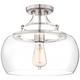 Charleston 13 1/2 inch Wide Brushed Nickel LED Ceiling Light
