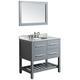 Bosconi 36 inch Gray 2-Drawer Single Sink Vanity Set