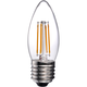 40W Equivalent Clear 4W LED Dimmable Filament Torpedo E26