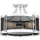 Possini Euro Melvin 13 3/4 inch Wide Chrome Ceiling Light