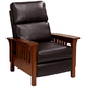 Evan Augusta Java Brown 3-Way Recliner Chair
