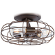Rubbed Bronze Vintage Cage LED Ceiling Fan Light Kit