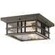 Kichler Beacon Square 12 inch Wide Olde Bronze Outdoor Ceiling Light