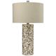 Keller Herringbone Mother of Pearl Shell Table Lamp