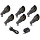 Black Spotlight 8-Piece Outdoor LED Landscape Lighting Set