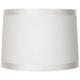 White Fabric Drum Shade 13x14x10 (Spider)