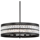 Jaylen 23 1/2 inch Wide Oil-Rubbed Bronze and Crystal Pendant Light