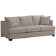 Zara 91 inch Wide Heritage Pebble Fabric Three-Seat Sofa