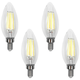 60W Equivalent Torpedo 6W LED Dimmable Filament Candelabra 4-Pack