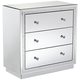 Biscaya 31 1/2 inch Wide Mirrored 3-Drawer Beaded Accent Chest