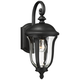 Park Sienna 16 3/4 inch High Black Outdoor Wall Light