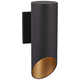 Pineview Slope 12 1/2 inch High Black and Gold Outdoor Wall Light