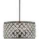 Genter 21 inch Wide Bronze and Crystal 4-Light Pendant