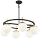 Alluria 27 inch Wide Weathered Black and Autumn Gold 6-Light Pendant